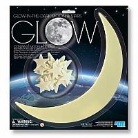 Развивающий набор наклейки Светящиеся Луна и 13 звезд от 4M