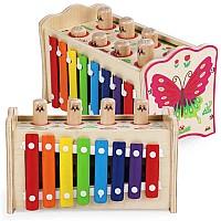 Развивающая игрушка Стучалка с ксилофоном 4-в-1