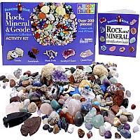 Научный STEM набор Камни, окаменелости и минералы (более 200 шт) от Dancing Bear