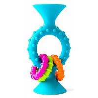 Сенсорная погремушка на присоске Голубой прорезыватель для зубов от Fat Brain Toys