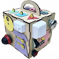 Развивающая игрушка Бизикуб 20х20 см