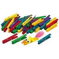 Набор для творчества Разноцветные прищепки (10 шт) от Lakeshore
