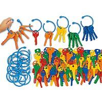 Набор для счета и сортировки Разноцветные ключи (140 шт) от Lakeshore