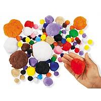 Тактильный набор Разноцветные мягкие помпоны (100 шт) от Lakeshore