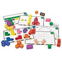 Математический набор конструктор Разноцветные кубики (115 шт) от Learning Resources