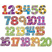 Развивающий набор Цифры пазлы (40 шт) от Learning Resources