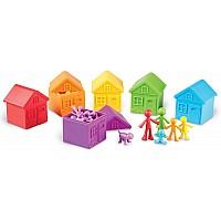 Набор для счета и сортировки Домики Моя семья (42 шт) от Learning Resources
