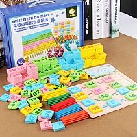 Развивающая игра Монтессори Математическое домино (301 элемент)