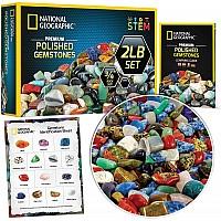Научный STEM набор Полированные Камни и минералы 2 см (около 907 грамм) от NATIONAL GEOGRAPHIC