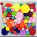 Тактильный набор Разноцветные помпоны (20 г)