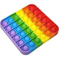 Развивающая тактильно-сенсорная игрушка антистресс Pop it Поп Ит радуга от Obetty