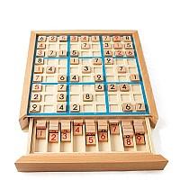 Развивающая игра Монтессори Головоломка деревянная Судоку
