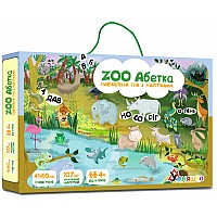 Развивающий набор с многоразовыми наклейками ZOO Абетка (укр. язык)